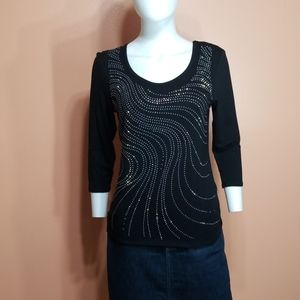 🆑️db established1962- Sequin Accented Top